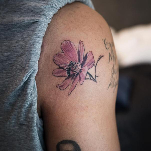 Drake More Life Flower Tattoo