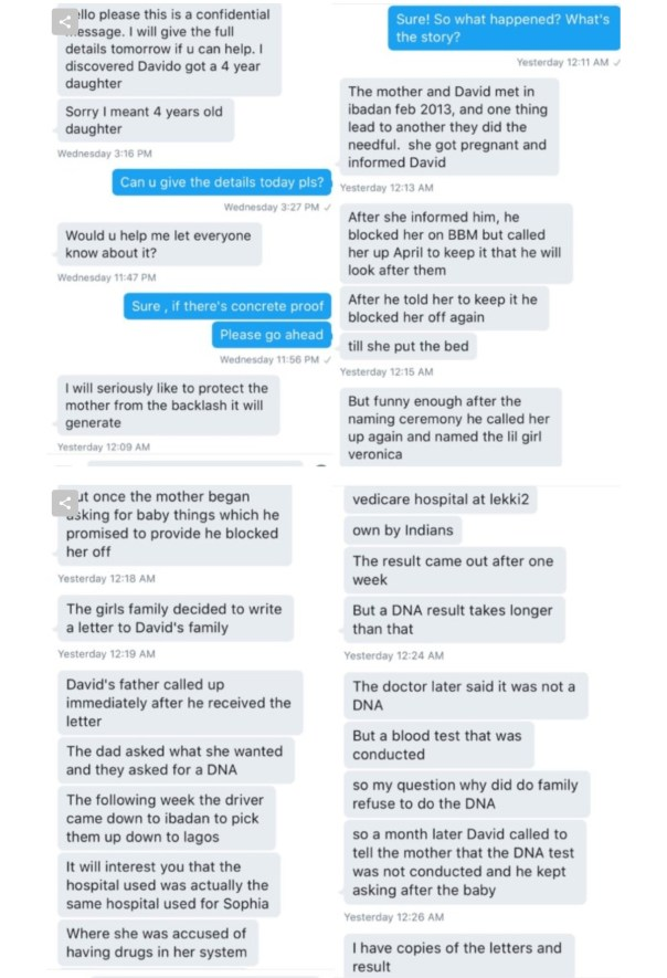 """""""This one na real yahoo girl no laptop"""" – Davido Says Denying Claims Of Having A 3-Year-Old Child"""