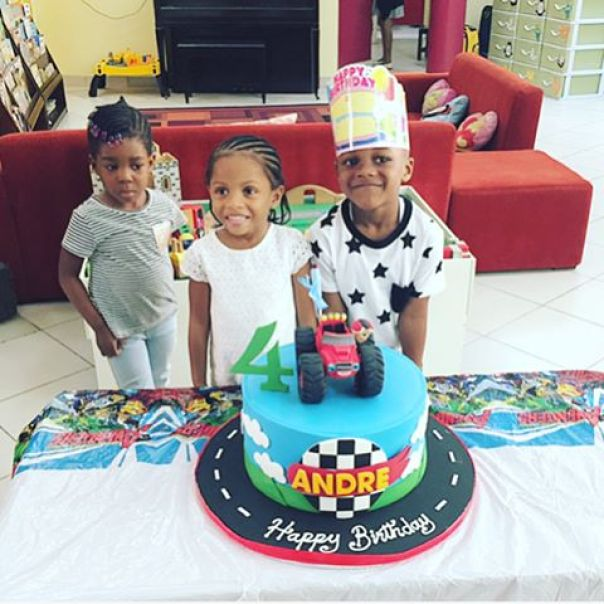 Andre celebrates 4th birthday in the United States
