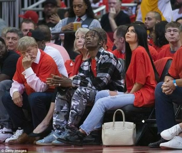 Travis Scott And Kylie Jenner Cozy Up At Rockets Game
