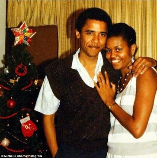 Barack Obama With Michelle Obama Throwback Photo