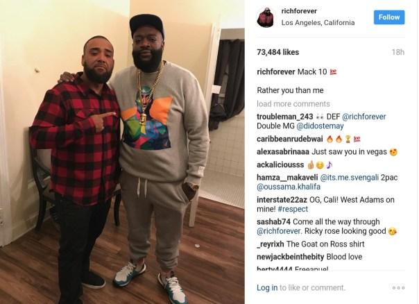 Rick Ross Rocks Tupac Sweater Posing Alongside Mack 10