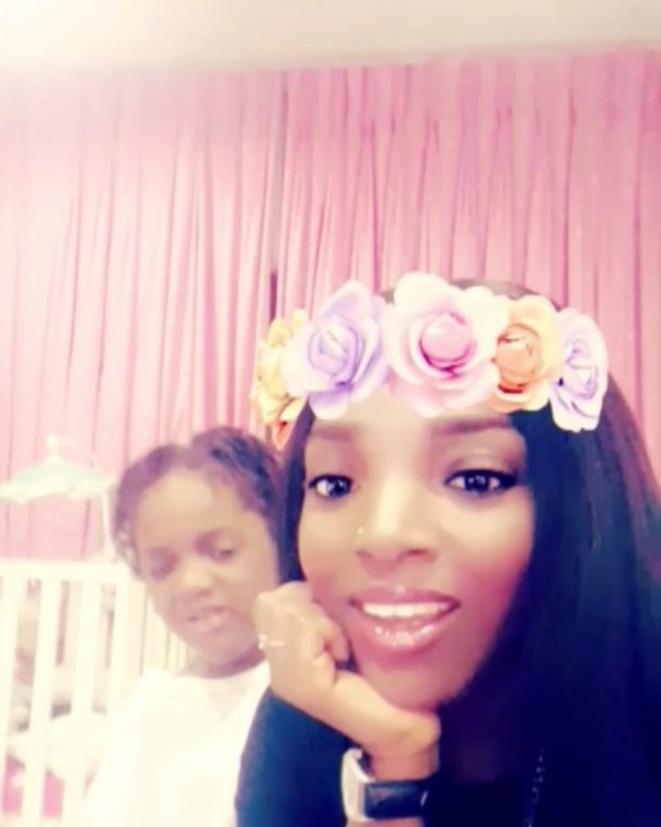 Annie Idibia's Second Daughter Olivia Has Told Her That She's Not Loved Like Her Elder Sister (1)