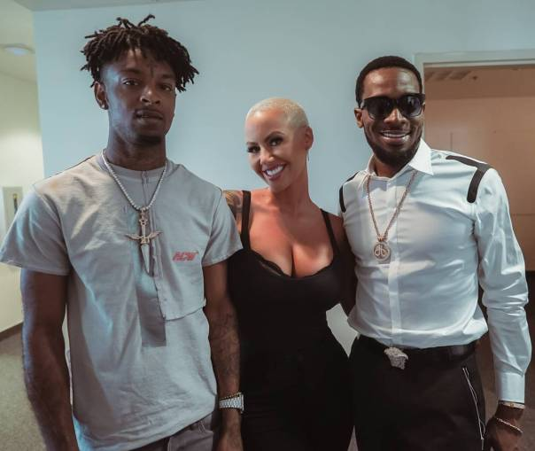 D'banj Pictured With Amber Rose