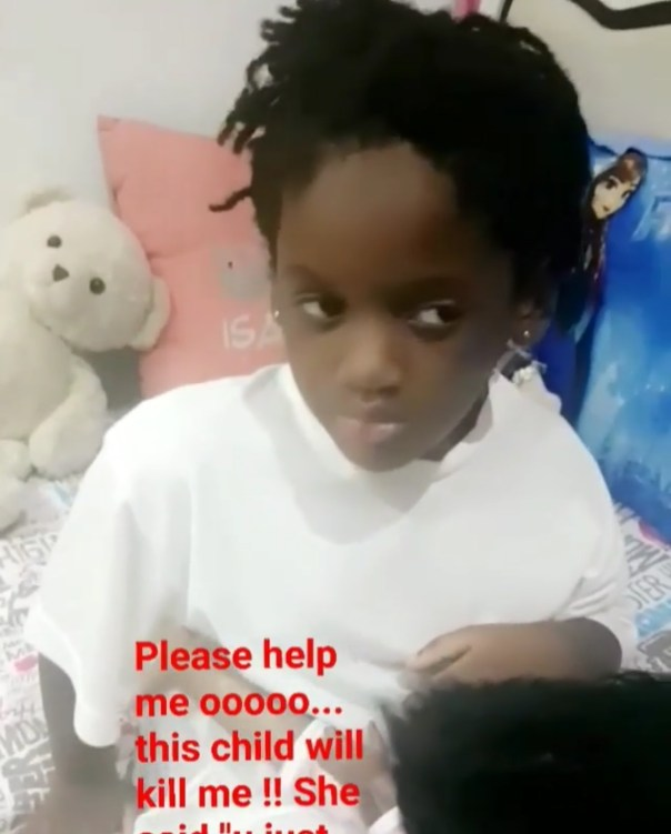 Annie Idibia's Second Daughter Olivia Has Told Her That She's Not Loved Like Her Elder Sister (2)