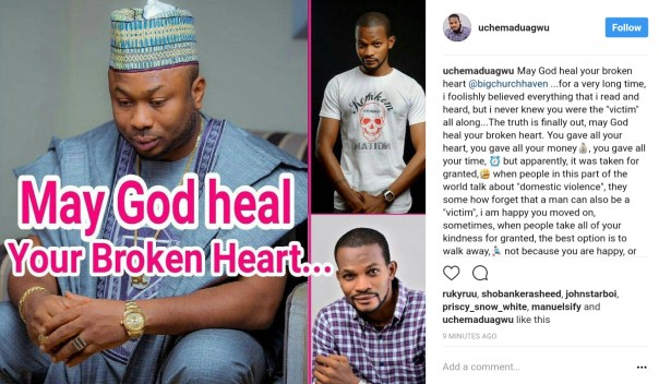 """Uche Maduagwu Sends Words Of Comfort To """"Victim"""" Olakunle Churchill Over Failed Marriage With Tonto Dikeh (1)"""