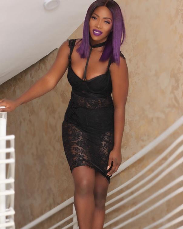 Singer Tiwa Savage Sheer Lace (1)