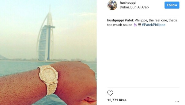 Hushpuppi Shows Off The Real Patek Philippe On His Wrist (1)