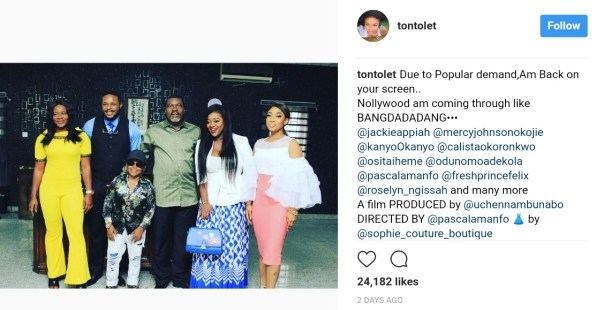 Tonto Dikeh Celebrates Her Return To Nollywood After Four Years With Stunning Photo