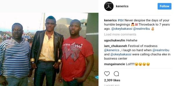 John Okafor Pictured Alongside Nollywood Stars Ken Erics And Okey Bakassi In Epic Throwback (1)