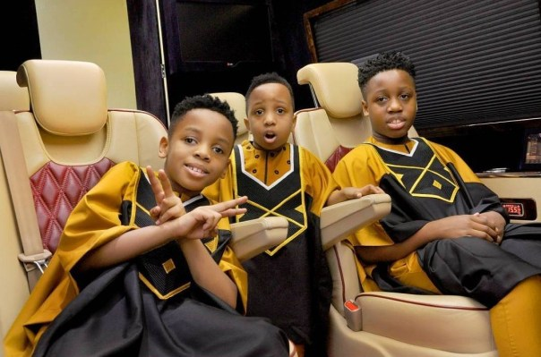 E-Money And His Three Sons Rock Matching Outfits (6)