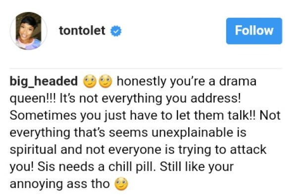 Tonto Dikeh Comes For Vulnerable Blog Readers Who Linked Boil On Her Eye To Spiritual Attack (1)