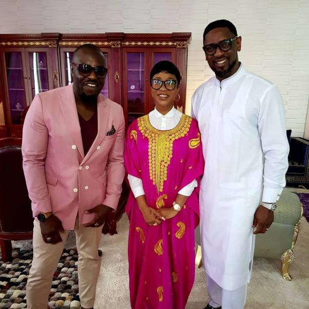 Jim Iyke Caught Up With TBoss And Tonto Dikeh Alongside Pastor Biodun Fatoyinbo (2)