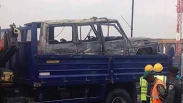 Fayose Escapes Death As Fire Engulfs His Mercedes Benz G-Wagon (2)