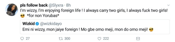 Wizkid Takes To Twitter To Brag About His Sex Life (2)