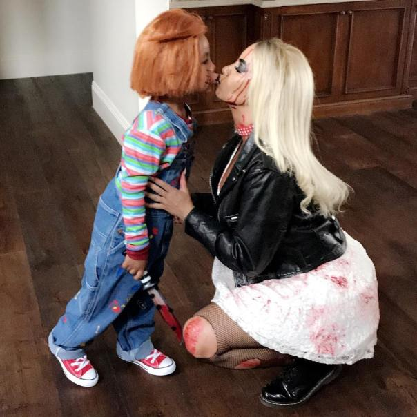 Amber Rose And Son Sebastian Channel Tiffany And Chucky For Halloween (3)