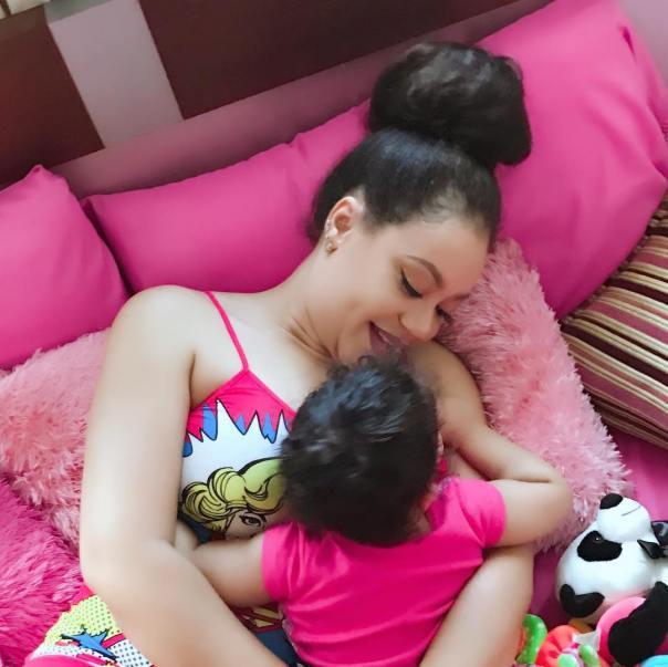 Nadia Buari With Daughter