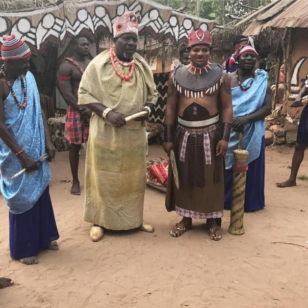 Rosy Meurer Pictured Alongside Walter Anga With Ejike Asiegbu And Rita Daniels On Set Twisted The Movie (6)