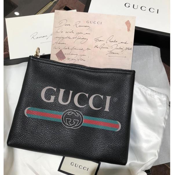 Hushpuppi Shares Gifts And Note Given To Him By Gucci To Enjoy Christmas Holiday (2)