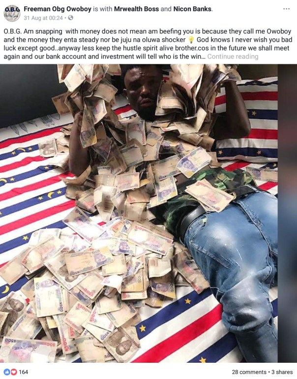 Freeman Obg Owoboy The Nigerian Man Who Sleeps On Money (3)