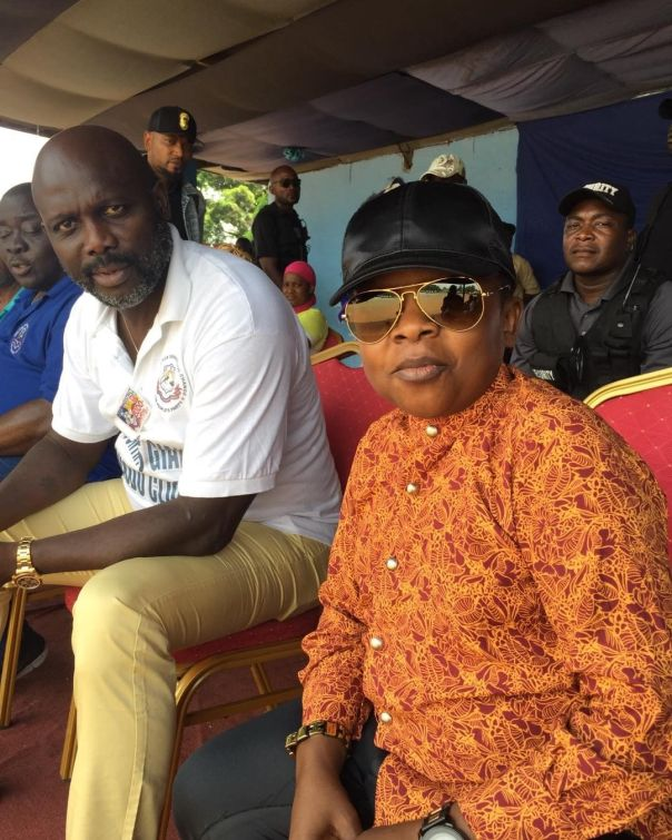 Chinedu Ikedieze Pictured With George Weah (2)