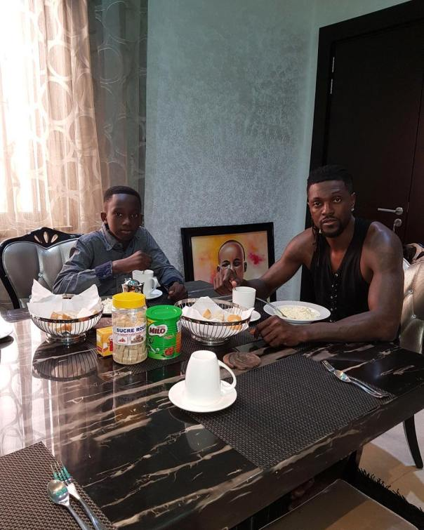Emmanuel Adebayor Has Adopted His Late Elder Brother's Son (2)
