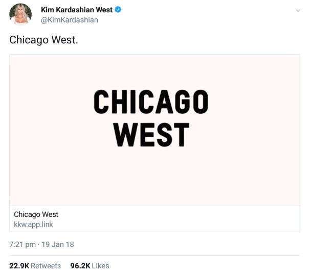 Why Kanye West And Kim Kardashian Called Their Baby Chicago (2)