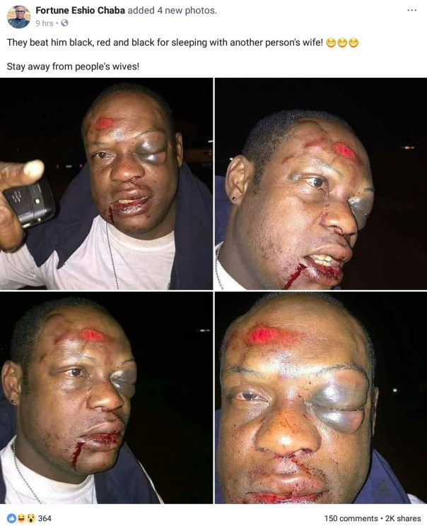 Man Was Beaten For Sleeping With Another Person's Wife