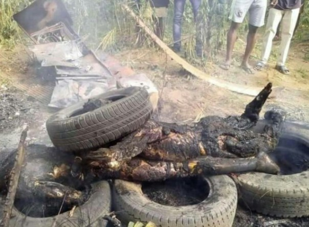 Suspected Armed Robbers That Were Burnt To Ashes In Akwa Ibom (2)