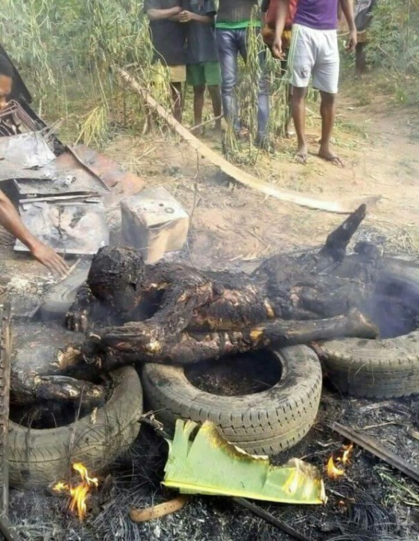 Suspected Armed Robbers That Were Burnt To Ashes In Akwa Ibom (6)