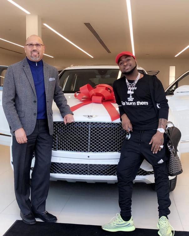 Davido Shows Off His New Bentley Bentayga Car In Atlanta (2)