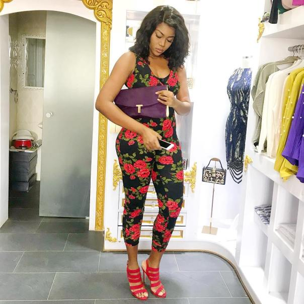 Yvonne Nelson Rocks Floral Outfit
