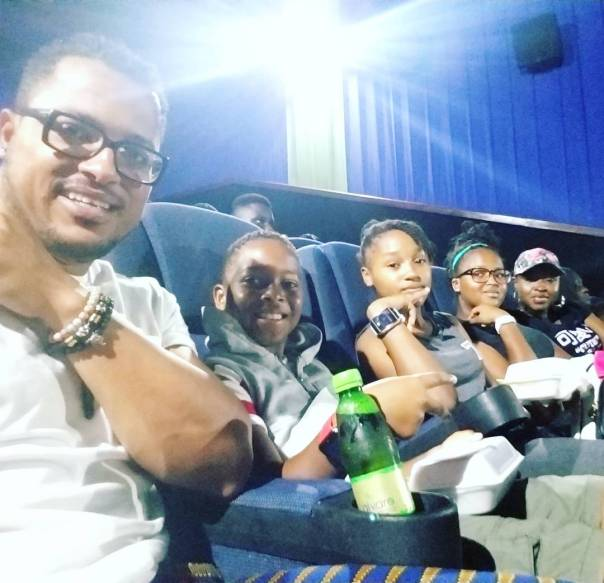 Van Vicker And His Family Pictured At The Cinema (2)