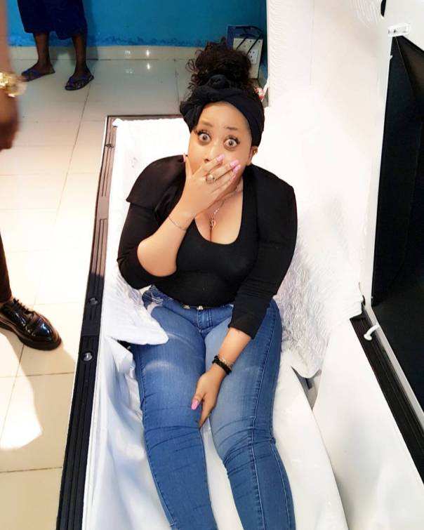 Moyo Lawal Was Pictured In A Coffin (2)