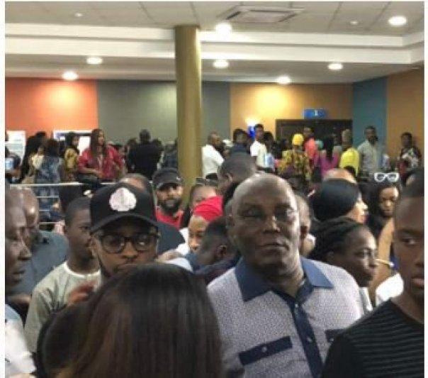 Atiku Abubakar Storms Silverbird Cinemas To Watch Black Panther (3)