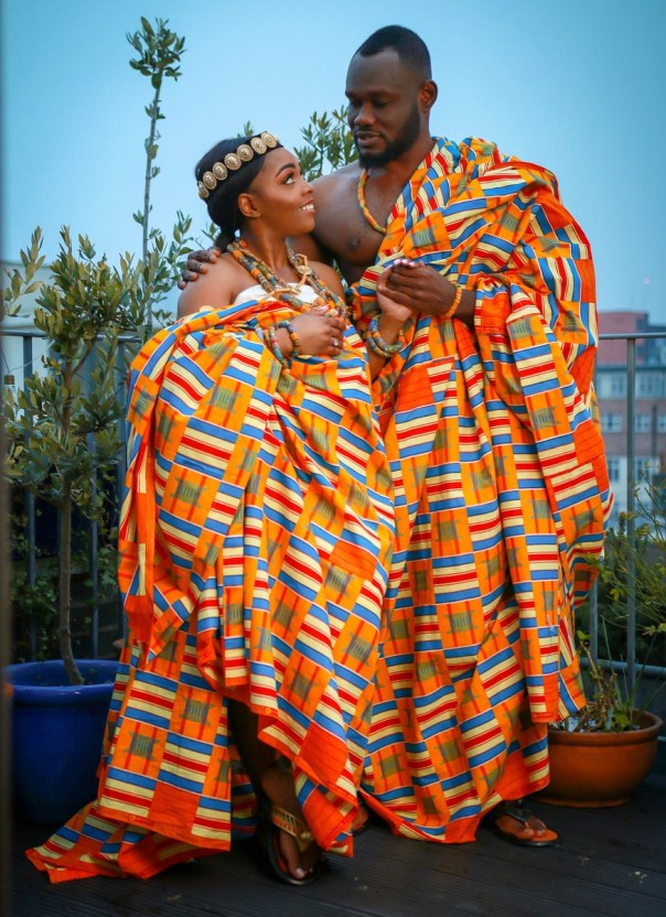 Prince David Osei And Ava Enchill Rock Stunning Kente Traditional Cloth To Mark Ghana's 61st Independence Celebrations (7)
