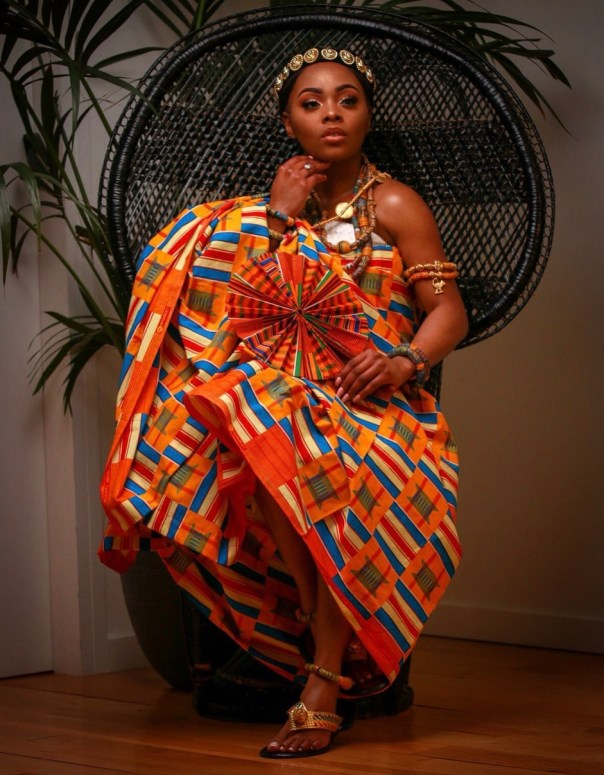 Prince David Osei And Ava Enchill Rock Stunning Kente Traditional Cloth To Mark Ghana's 61st Independence Celebrations (3)