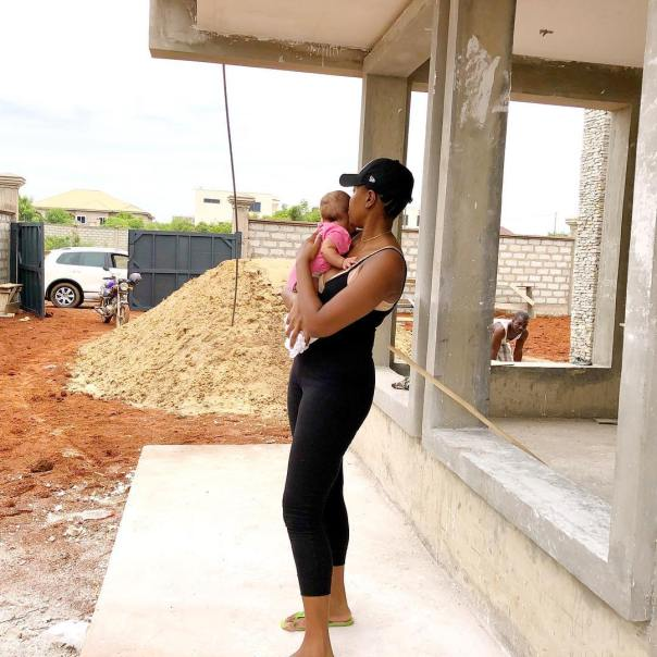 Yvonne Nelson And Baby Ryn Inspect New Site Under Construction (2)