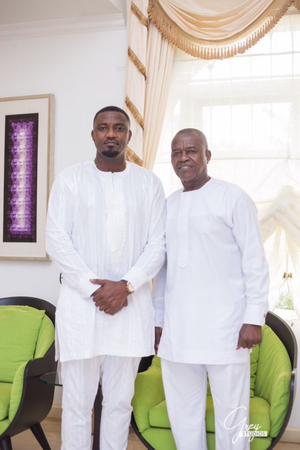 John Dumelo Shows Off His Father In All White Shoot (2)