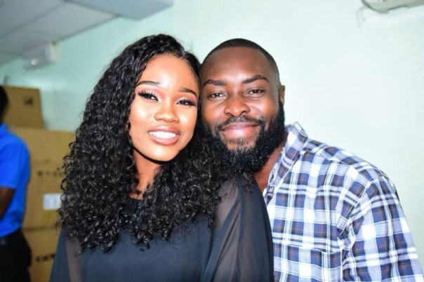 Cee-C Poses With Elder Brother Captain Igbokwe