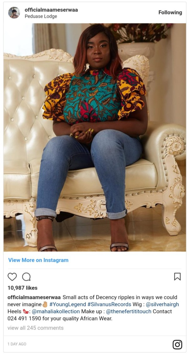 Maame Serwaa Ripped Apart Again Over Increased Weight Gain (2)