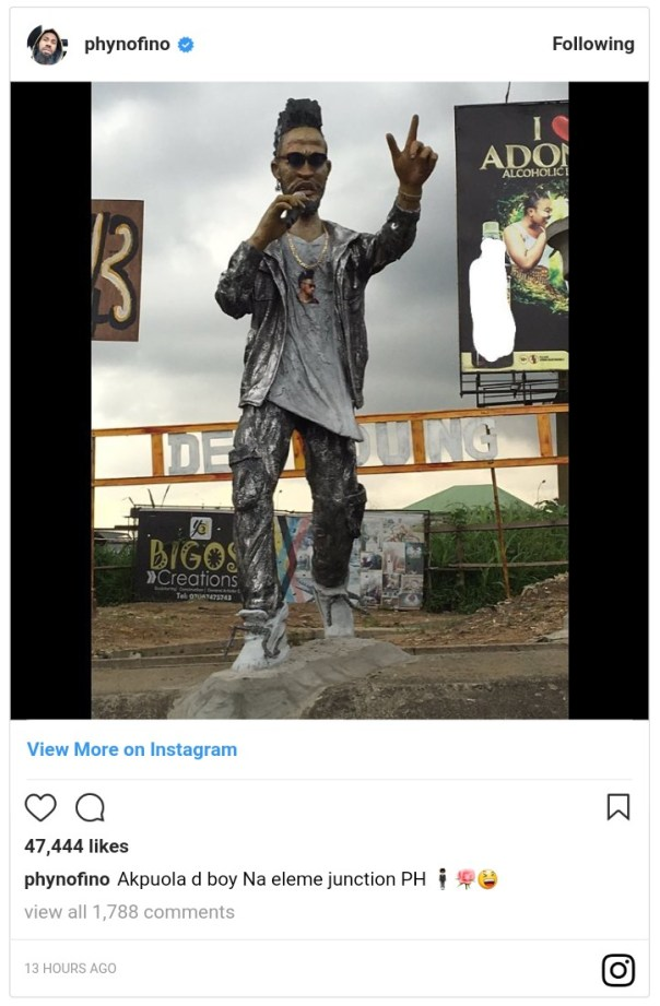 Phyno Statue Erected In Eleme (3)