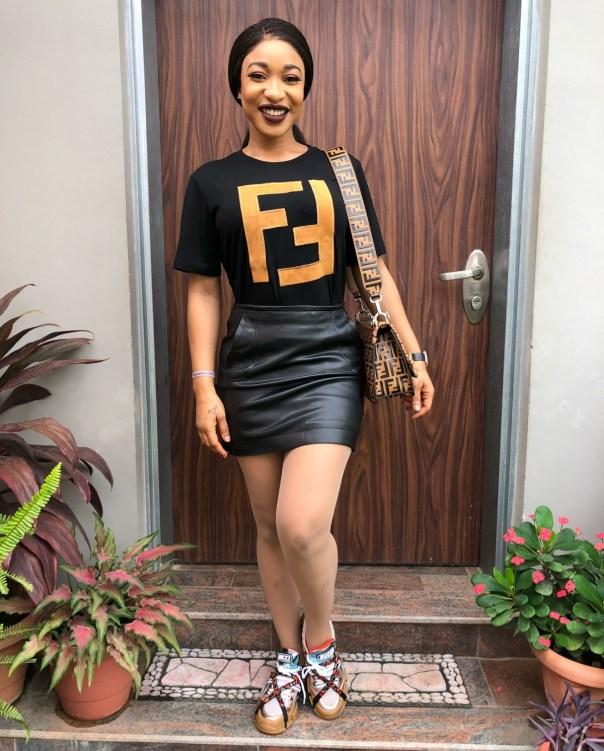 Tonto Dikeh Steps Out In N248K Fendi T-Shirt (2)