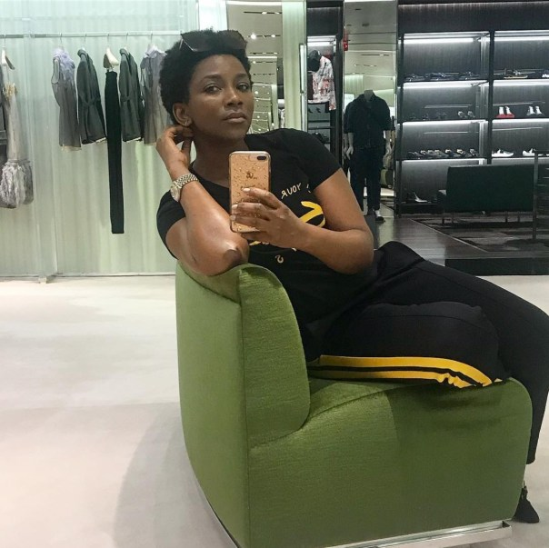 Genevieve Nnaji Slays In All Black Outfit (3)