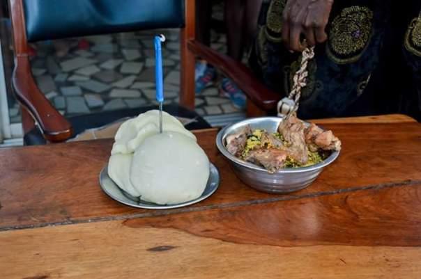 Igbo Man Fufu And Egusi Soup As Birthday Cake (2)