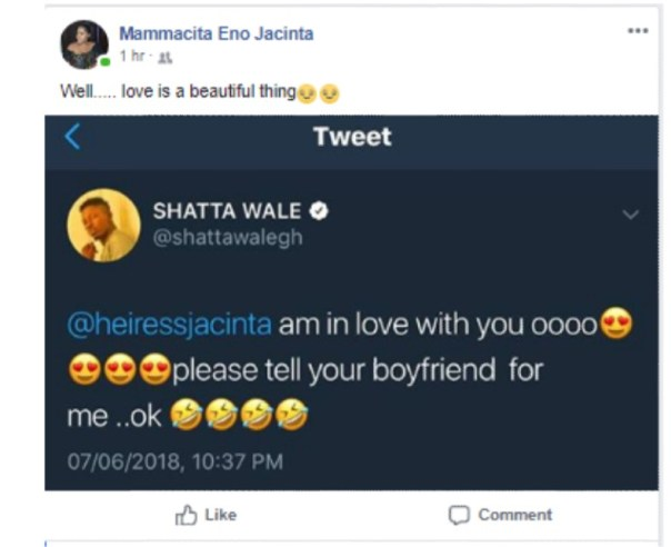 Shatta Wale Openly Declares Love For Comedienne Jacinta (3)
