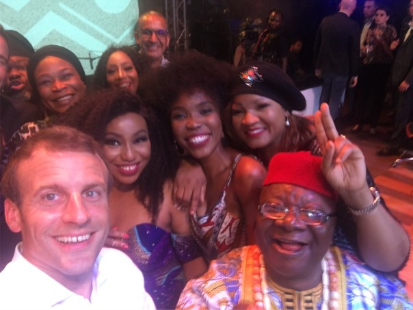 Rita Dominic Pictured With French President Emmanuel Macron (2)