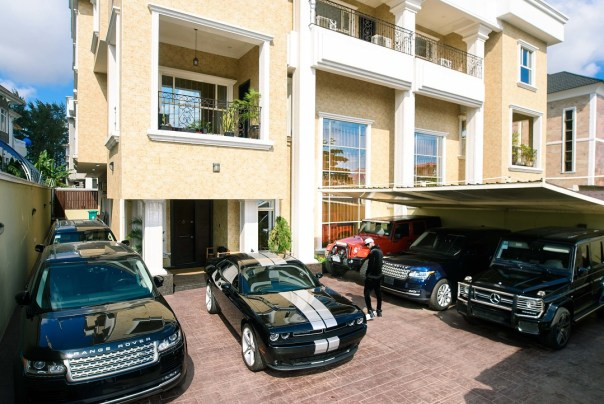 Peter Okoye Shows Off Mansion And Cars (3)
