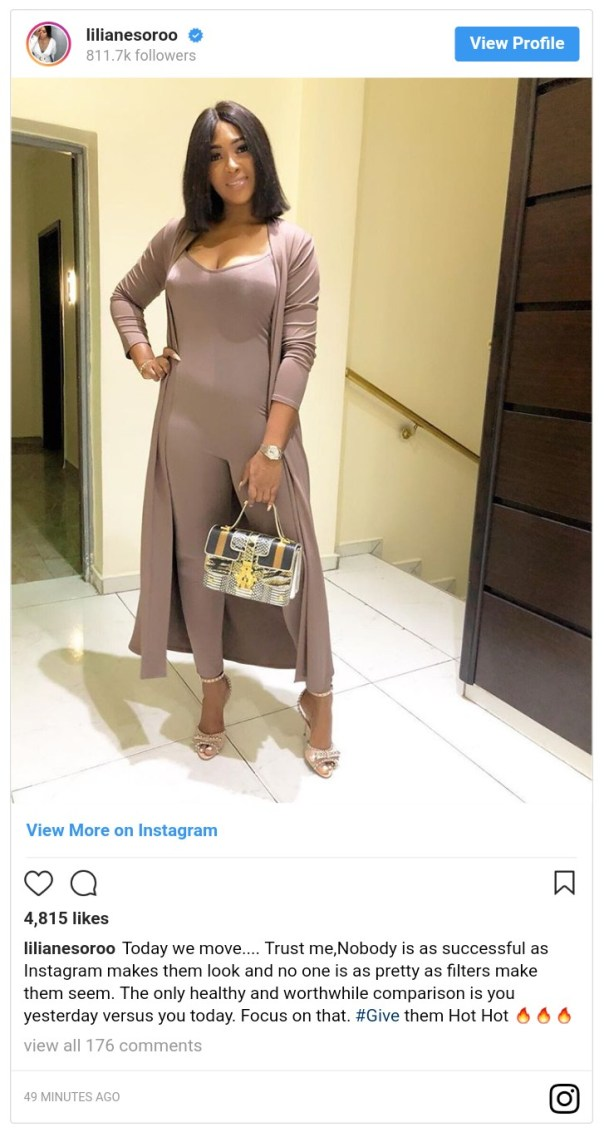 Nobody Is As Successful And Pretty As Instagram Makes Them Lilian Esoro Says (2)