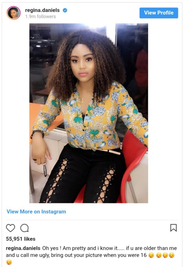 Fans Descend On Regina Daniels After She Claimed To Be 16 (2)